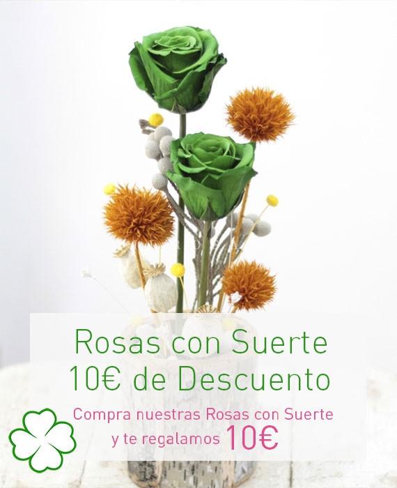 rosas con suerte